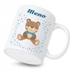 Keramický hrnček s menom dieťaťa Medvedík Chlapec