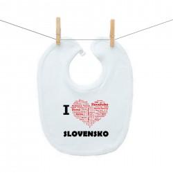 Podbradník na zapínanie I love Slovensko