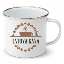 Smaltovaný hrnček Tatova káva