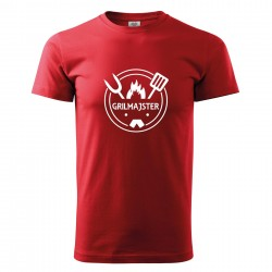 Červené pánske tričko Grilmajster