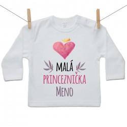 Tričko s dlhým rukávom Malá princeznička s menom