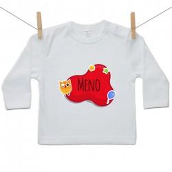 Tričko s dlhým rukávom Červená bublina s menom dieťatka