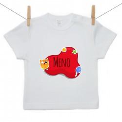 Tričko s krátkym rukávom Červená bublina s menom dieťatka