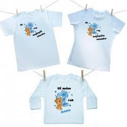 Rodinná sada (tričko s dlhým rukávom) Už 1 rok najlepší rodičia chlapčeka s menom dieťatka
