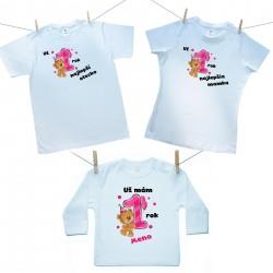 Rodinná sada (tričko s dlhým rukávom) Už 1 rok najlepší rodičia dievčatka s menom dieťatka