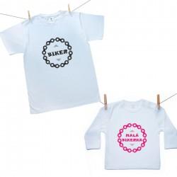 Rodinná sada (tričko s dlhým rukávom) Biker (otec a dcéra)