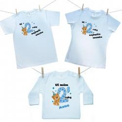Rodinná sada (tričko s dlhým rukávom) Už 2 roky najlepší rodičia chlapčeka s menom dieťaťa