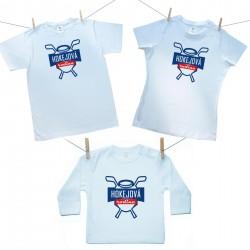 Rodinná sada (tričko s dlhým rukávom) Hokejová rodina