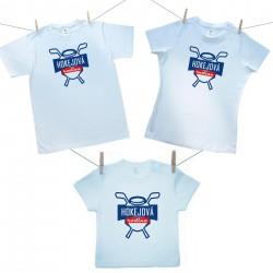 Rodinná sada (tričko s krátkym rukávom) Hokejová rodina