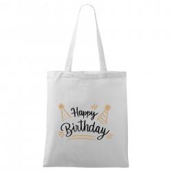 Biela taška Happy birthday