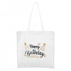 Biela Maxi taška Happy birthday