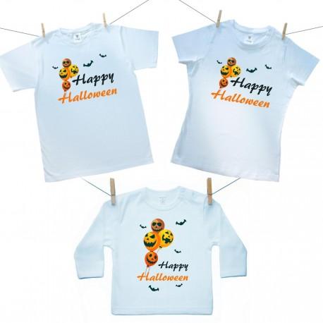 Rodinná sada (tričko s dlhým rukávom) Happy Halloween