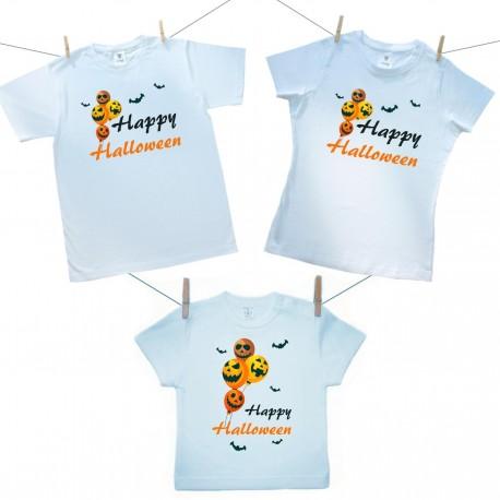 Rodinná sada (tričko s krátkym rukávom) Happy Halloween