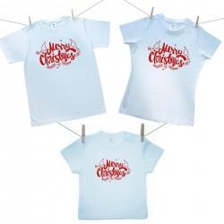 Rodinná sada (tričko s krátkym rukávom) Merry Christmas