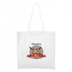 Biela Maxi taška Veselé Vianoce so sobíkom Mamka