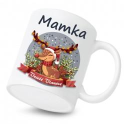 Keramický hrnček Veselé Vianoce so sobíkom Mamka