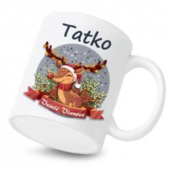 Keramický hrnček Veselé Vianoce so sobíkom Tatko