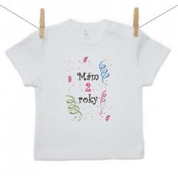 Tričko s krátkym rukávom Mám 2 roky Dievča