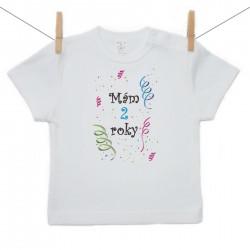 Tričko s krátkym rukávom Mám 2 roky Chlapec
