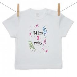 Tričko s krátkym rukávom Mám 3 roky Dievča