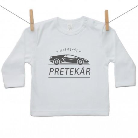 Tričko s dlhým rukávom Najmenší pretekár