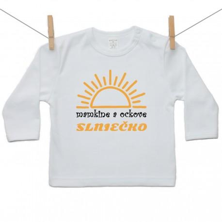 Tričko s dlhým rukávom Mamkine a ockove slniečko