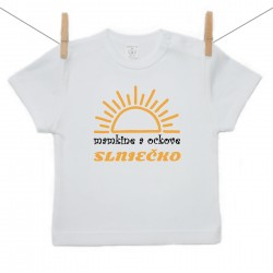 Tričko s krátkym rukávom Mamkine a ockove slniečko
