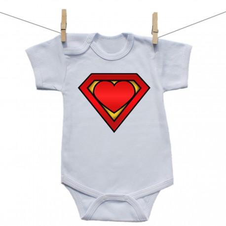 Body s krátkym rukávom Super baby
