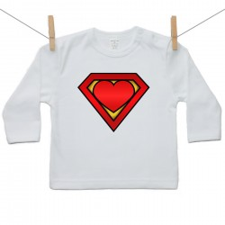Tričko s dlhým rukávom Super baby