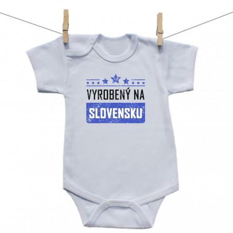 Body s krátkym rukávom Vyrobený na Slovensku