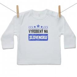 Tričko s dlhým rukávom Vyrobený na Slovensku