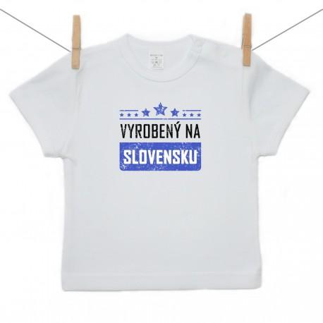 Tričko s krátkym rukávom Vyrobený na Slovensku