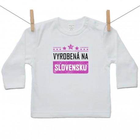 Tričko s dlhým rukávom Vyrobená na Slovensku
