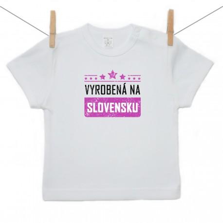Tričko s krátkym rukávom Vyrobená na Slovensku