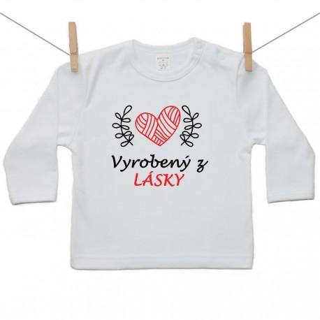 Tričko s dlhým rukávom Vyrobený z lásky
