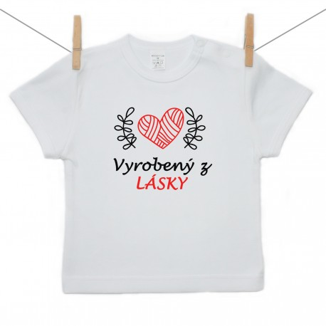 Tričko s krátkym rukávom Vyrobený z lásky
