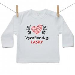 Tričko s dlhým rukávom Vyrobená z lásky