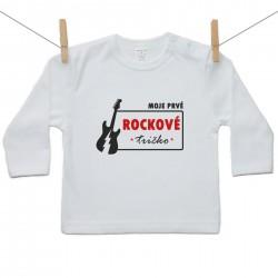 Tričko s dlhým rukávom Moje prvé rockové tričko