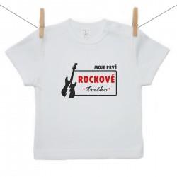 Tričko s krátkym rukávom Moje prvé rockové tričko