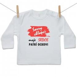Tričko s dlhým rukávom Sorry chlapci moje srdce patrí ockovi