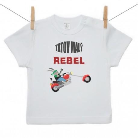 Tričko s krátkym rukávom Tatov malý rebel