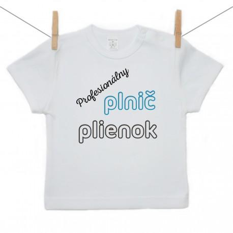 Tričko s krátkym rukávom Profesionálny plnič plienok