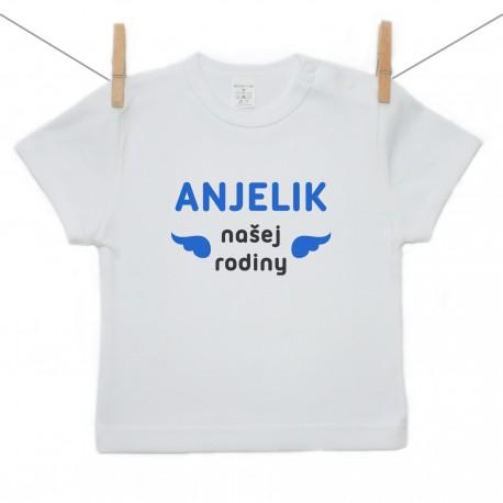 Tričko s krátkym rukávom Anjelik našej rodiny
