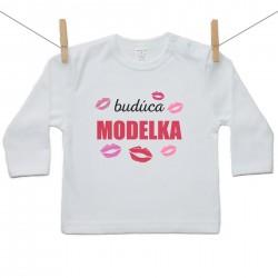 Tričko s dlhým rukávom Budúca modelka