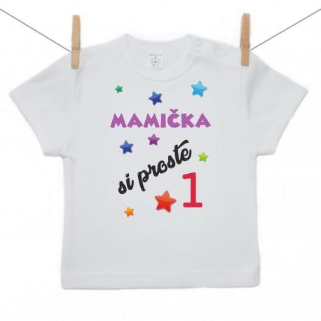 Tričko s krátkym rukávom Mamička si proste 1