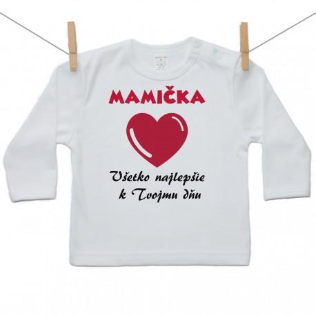 Tričko s dlhým rukávom Všetko najlepšie Mamička