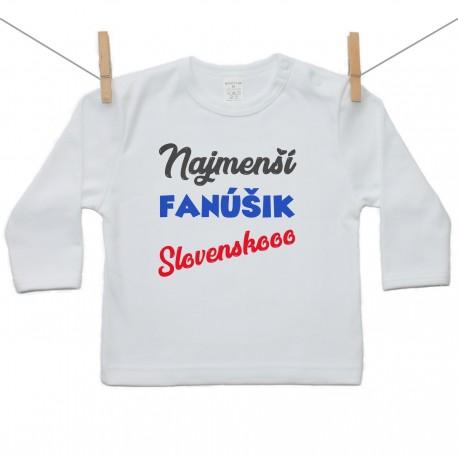 Tričko s dlhým rukávom Najmenší fanúšik