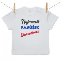 Tričko s krátkym rukávom Najmenší fanúšik
