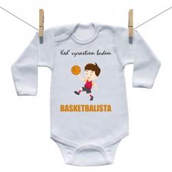 Body s dlhým rukávom Keď vyrastiem budem basketbalista