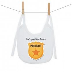 Podbradník na zaväzovanie Keď vyrastiem budem policajt